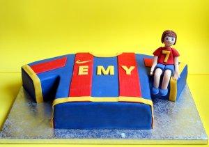 Tarta camiseta del barcelona- Barcelona soccer cake
