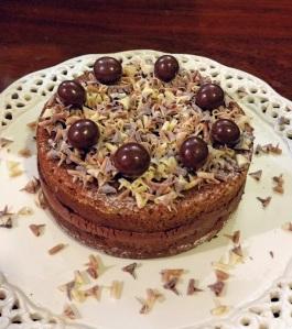 Tarta de plátano con relleno de chocolate (sin gluten y Paleo)